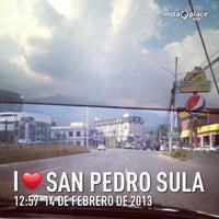 Photo taken at San Pedro Sula by Emilia G. on 2/14/2013
