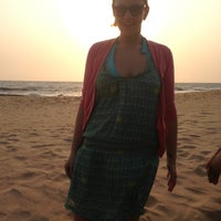 Photo taken at Anjuna Beach by Мария Б. on 4/16/2013