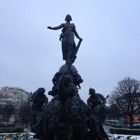 Photo taken at Place de la Nation by Romeo P. on 1/22/2013