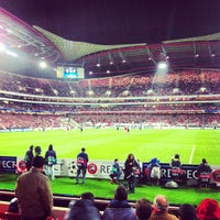 Photo taken at Estádio do Sport Lisboa e Benfica by Francisco V. on 11/20/2012