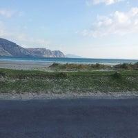 Photo taken at Keel Beach by Kedili on 4/21/2014