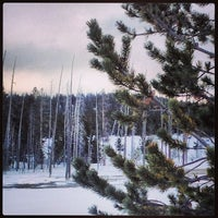 Photo taken at Black Sand Basin by Linz S. on 12/30/2013