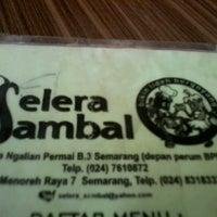 Photo taken at Selera Sambal Ngaliyan by Dimas A. on 12/29/2012