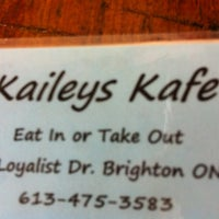 Photo taken at Kaileys Cafe by Beatrice S. on 3/15/2013