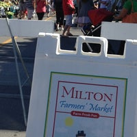 Photo taken at Milton Farmer's Market by Daniel C. on 8/10/2013