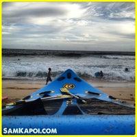 Photo taken at Makaha Beach Park by Sam K. on 4/29/2013