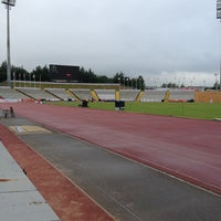 Photo taken at Don Valley Stadium by Jonathan V. on 9/14/2013