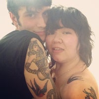 Photo taken at Scapegoat Tattoo by Jane H. on 7/7/2013