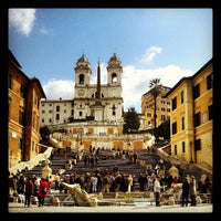 Photo taken at Piazza di Spagna by Michele T. on 4/10/2013