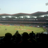 Photo taken at Jawaharlal Nehru Stadium by Anand R. on 1/15/2013