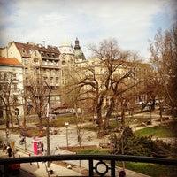 Photo taken at Erzsébet tér by Matt A. on 4/17/2013