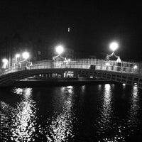 Photo taken at The Ha'penny (Liffey) Bridge by Harm on 4/28/2013