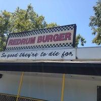 Photo taken at Redrum Burger by teri m. on 7/14/2013