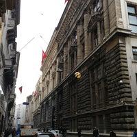 Photo taken at Bankalar Caddesi by Cüneyt O. on 2/27/2013