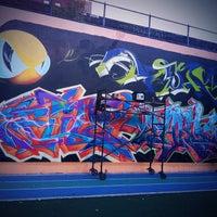 Photo taken at Graffiti Hall Of Fame by Rahsaan B. on 9/24/2012