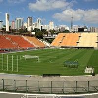 Photo taken at Estádio Municipal Paulo Machado de Carvalho (Pacaembu) by Valéria Weiss🌷 on 7/27/2013