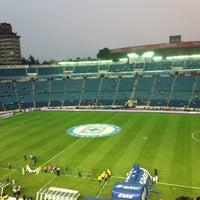 Photo taken at Estadio Azul by Argelia P. on 5/10/2013