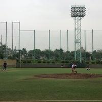 Photo taken at 青山運動場 野球場 by sally on 7/30/2013