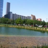 Photo taken at Discovery Green by Eboni R. on 4/24/2013