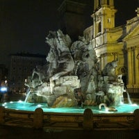 Photo taken at Piazza Navona by Francesca P. on 3/29/2013