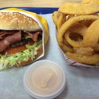 Photo taken at Crown Burgers by L B. on 3/29/2014