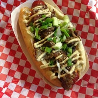 Photo taken at Buldogis Gourmet Hot Dogs by Jamie Y. on 1/4/2013