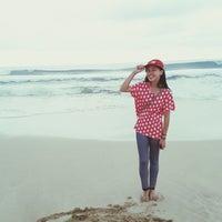 Photo taken at Pantai Ujung Genteng by Syifa F. on 11/9/2013