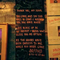 Photo taken at Sappho Books, Cafe & Wine Bar by Chuah A. on 8/19/2016