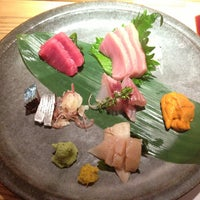 Photo taken at Sushi Azabu by Tony H. on 6/30/2013