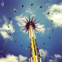 Photo taken at Six Flags Fiesta Texas by Maxwell H. on 5/13/2013