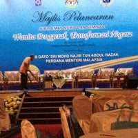 Photo taken at Dewan Perdana Felda by Hazreen G. on 1/28/2013