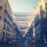 Photo taken at Marqués de Larios Street by Federico on 7/5/2013
