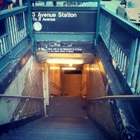 Photo taken at MTA Subway - 3rd Ave (L) by Aerik V. on 5/12/2013
