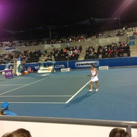 Photo taken at Hobart International Tennis Centre by Hollie A. on 1/7/2013