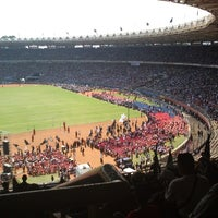 Photo taken at Stadion Utama Gelora Bung Karno (GBK) by Trii P. on 6/2/2013