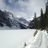 Photo taken at Lake Louise by Benjamin B. on 4/30/2013