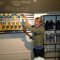 Photo taken at Half Full Brewery by Liz W. on 4/12/2013