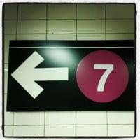 Photo taken at MTA Subway - 7 Train by Moe on 1/11/2013