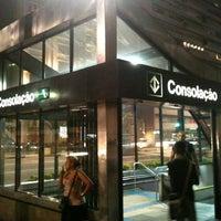 Photo taken at Estação Consolação (Metrô) by Dante V. on 3/3/2013