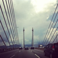 Photo taken at Penang Bridge by Vyvyan T. on 3/9/2013