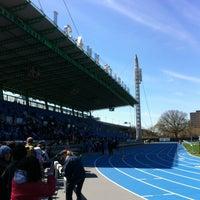 Photo taken at Icahn Stadium by Geoffrey B. on 4/21/2013