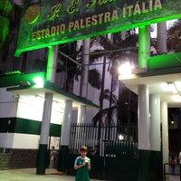 Photo taken at Sociedade Esportiva Palmeiras by Alexandra V. on 7/4/2013