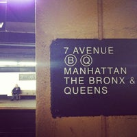 Photo taken at MTA Subway - 7th Ave (B/Q) by Melody L. on 3/1/2013
