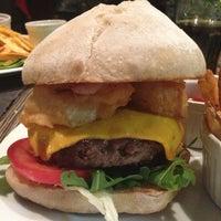 Photo taken at Ring Café & Burger Bar by Tóth Á. on 5/31/2013