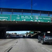 Photo taken at CA-134 / I-210 Freeway Interchange by Conrado M. on 1/28/2013