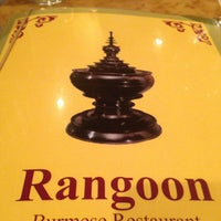 Photo taken at Rangoon Burmese Restaurant by Justin on 5/7/2013