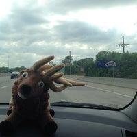 Photo taken at Missouri/Kansas Border by Gwyneth M. on 6/5/2014