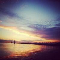 Photo taken at St. Joseph South Pier (at Silver Beach) by Chris B. on 6/8/2014