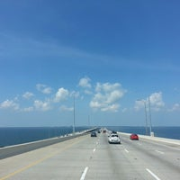 Photo taken at Howard Frankland Bridge by Dejan P. on 5/10/2013