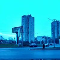 Photo taken at Площа Перемоги / Peremogy square by Екатерина on 11/25/2013